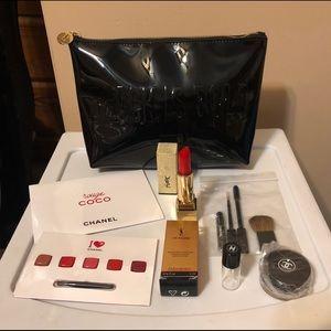 YSL CHANEL High End Makeup Bag And Makeup Bundle!